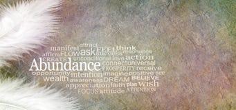 Free Angelic Abundance Word Cloud Banner Royalty Free Stock Image - 104336266
