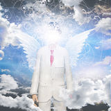 Angelic being obscured Royalty Free Stock Image