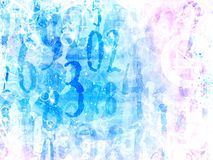 Angelic bright magical numbers background Royalty Free Stock Photo