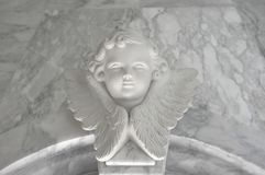 Angelic cupid statue - vintage retro effect style picture.  stock photo