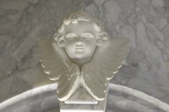 Angelic cupid statue - vintage retro effect style picture.  stock photos