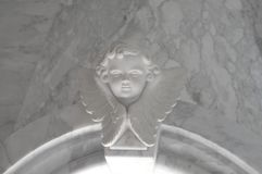 Angelic cupid statue - vintage retro effect style picture.  stock photography