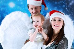 Angelic daughter stock photography