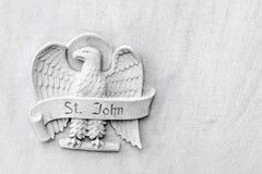 Angelic Eagle - St John - símbolo religioso fotos de stock royalty free