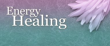 Angelic Energy Healing Banner Head illustrazione vettoriale