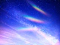 Angelic energy rainbow landscape