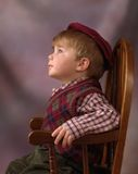 Angelic Face. Profile of little boy with an angelic face lost in his own world daydreaming, WITH CLIPPING PATH Stock Photo