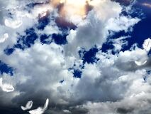 Angelic feathery sky, photographed at Golden Gate, South Africa