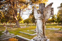 Angelic gravestone at Ross Bay Cemetery, Victoria, BC Royalty Free Stock Images