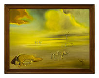 Angelic Landscape. 1977 by Salvador Dalì at Vatican Museums stock images