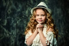 Angelic little girl royalty free stock images