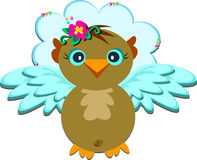 Angelic Owl in the Sky Royalty Free Stock Photography