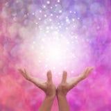 Angelic Pink Healing Energy immagine stock