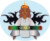 Angelic Queen illustration stock