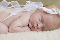Angelic Sleeping Baby Closeup Royalty Free Stock Photos