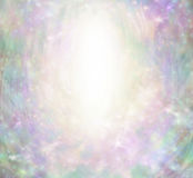 Angelic Sparkling Border Background mágica imagen de archivo