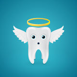 Angelic tooth with wings and a halo Stock Images
