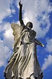 Angelic victory statue. On the sky background Stock Photography