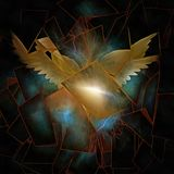 Angelic Wings Abstraction illustrazione di stock