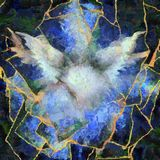 Angelic Wings Abstraction. Oil painting royalty free illustration