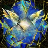 Angelic Wings Abstraction. In Painterly Van Gogh Style royalty free illustration