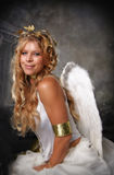 Angelic Woman. Blonde Haired Girl as Angel royalty free stock photos