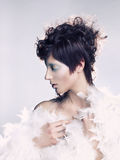 Angelic woman. Portrait of a young angelic woman with dark hair Royalty Free Stock Photos