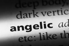 Angelic. Word in a dictionary.  concept stock images