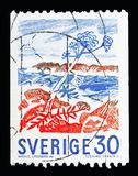 Angelikaanlage auf Küste, Definitives-serie, circa 1967 Lizenzfreie Stockbilder