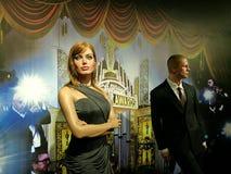 Angelina Jolie και άγαλμα κεριών του Brad Pitt Στοκ Εικόνες