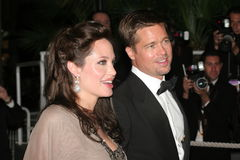 Angelina Jolie and Brad Pitt Royalty Free Stock Images