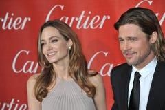 Angelina Jolie,Brad Pitt Stock Photos