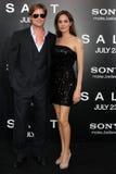 Angelina Jolie, Brad Pitt royaltyfri foto