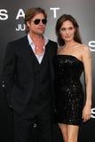 Angelina Jolie, Brad Pitt royaltyfria bilder