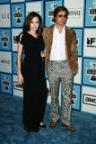 Angelina Jolie and Brad Pitt. At the 2008 Film Independent Spirit Awards at Santa Monica Beach, Santa Monica, California Stock Photography