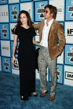 Angelina Jolie and Brad Pitt. At the 2008 Film Independent Spirit Awards at Santa Monica Beach, Santa Monica, California Stock Images