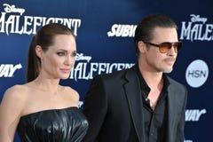 Angelina Jolie & Brad Pitt Στοκ φωτογραφία με δικαίωμα ελεύθερης χρήσης