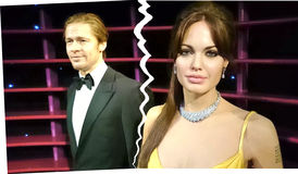 Angelina Jolie And Brad Pitt Breakup foto de stock