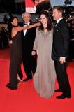 Angelina Jolie, Brad Pitt, Clint Eastwood, Dina Eastwood Στοκ εικόνες με δικαίωμα ελεύθερης χρήσης