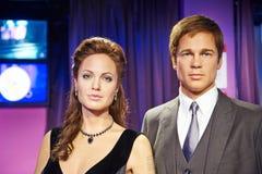Angelina Jolie and Brad Pitt stock photos