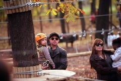 ANGELINA JOLIE AND BRAD PITT WITH THEIR CHILDREN Stock Photo