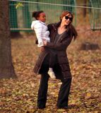 ANGELINA JOLIE AND BRAD PITT WITH THEIR CHILDREN Stock Image