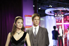 Angelina jolie and brad pitt wax figure Royalty Free Stock Photos