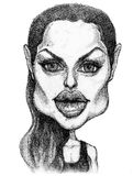 Angelina jolie caricature stock illustration