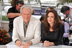 Angelina Jolie, Clint Eastwood Stock Photo