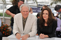 Angelina Jolie,Clint Eastwood Royalty Free Stock Images