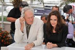 Angelina Jolie, Clint Eastwood Στοκ φωτογραφία με δικαίωμα ελεύθερης χρήσης