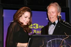 Angelina Jolie,Clint Eastwood Royalty Free Stock Photo