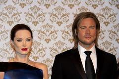 Angelina Jolie e Brad Pitt Foto de Stock