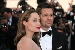 Angelina Jolie en Brad Pitt stock afbeeldingen
